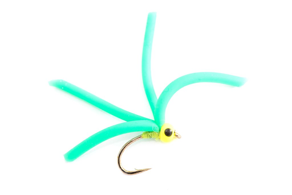 Fario Fly 4 Leg Squirmy Green