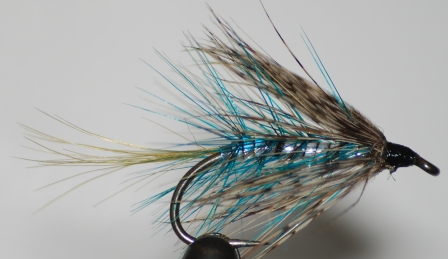 Blue & Silver Bumble Wet Fly