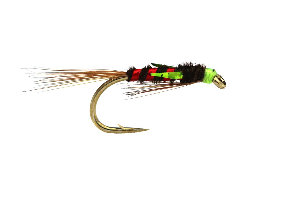 Fario Fly Olive and Red Holo Diawl Bach