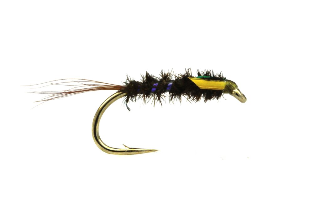 Fario Fly Shaven Olive Holo Diawl Bach