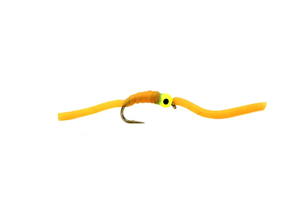 Fario Fly Squirmy Worm Orange